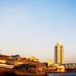 Vistes des de el riu Chao Phraya, a Bangkok.