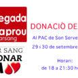 Proxima donació de sang a Son Servera: Dies 29 i 30 de setembre,de 18:00 a 21:30 hores al PAC.