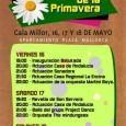 Aquest cap de setmana es celebrarà, a l'aparcament de la plaça Mallorca de Cala Millor, la Feria de la Primavera. Les actuacions previstes i els horaris són els següents:
