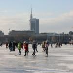 Hamburg, es llac estava congelat i es podia caminar per damunt després de 15 anys