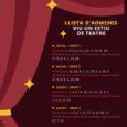 Ahir es realitzaren al teatre La unió els sortejos dels participants inscrits al taller de l'Escola d'estiu de teatre, que enguany estarà afectat per la Pandèmia de la COVID-19, havent […]
