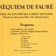 La coral de Son Servera i l'Orfeó Artanec oferiran conjuntament el concert Rèquiem de Fauré, on interpretaran, a més del rèquiem, Panis Angelicus de Cesar Franck i Ave Verum de […]
