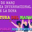 Cada 8 de març, amb motiu del dia internacional de la dona, es dóna lectura a un manifest, que enguany es fa de manera telemàtica, a causa de les restriccions […]